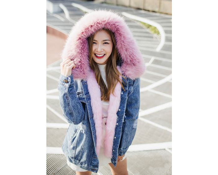 1001 Jacket Jean Hoodies Fur Extra Warm