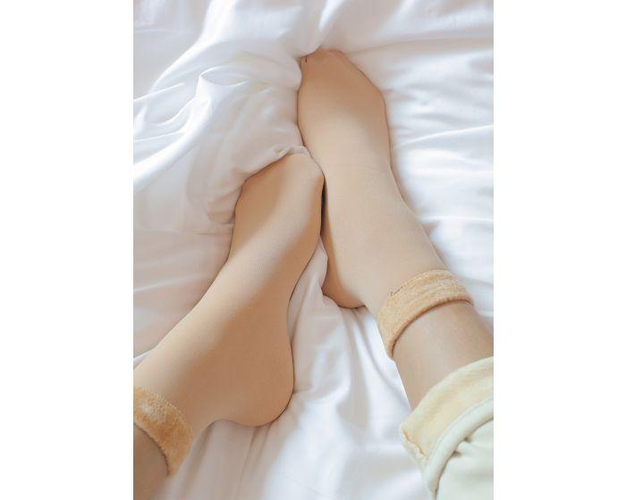 1011  Ankle fleece sock ขนาดเท่าข้อเท้า