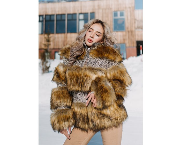 1034 Fur Layer Jacket