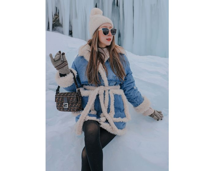 1063 Coat Jean fur Extra warm