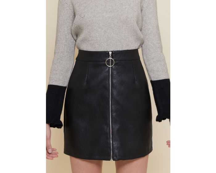 312 Leather strap skirt