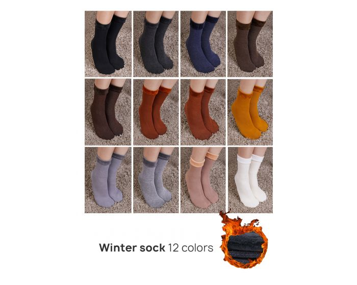 589 WINTER SOCK 12 COLORS