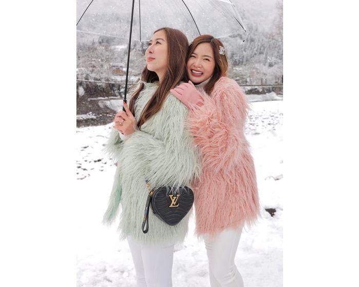 638  Pastel Long Fur Coat