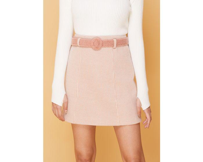 641 Shinori skirt with fur belt