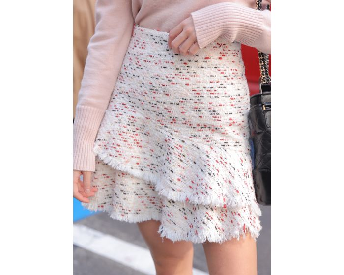 648 Tweed Two layer Skirt