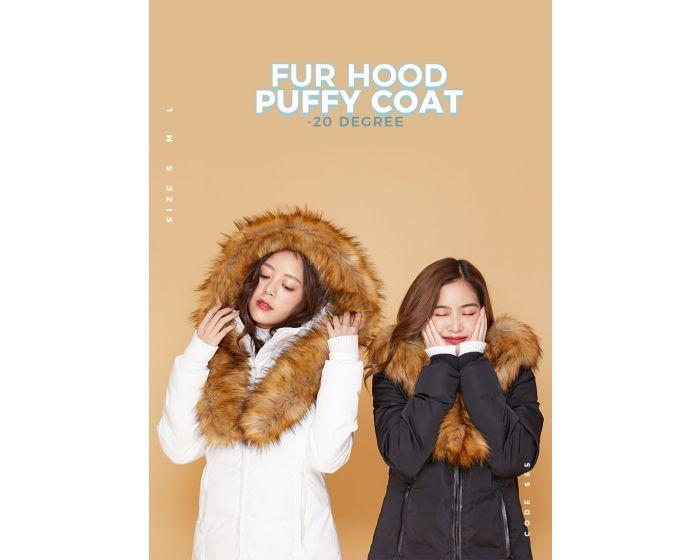 655 Fur Hood Puffy Coat -20 degree