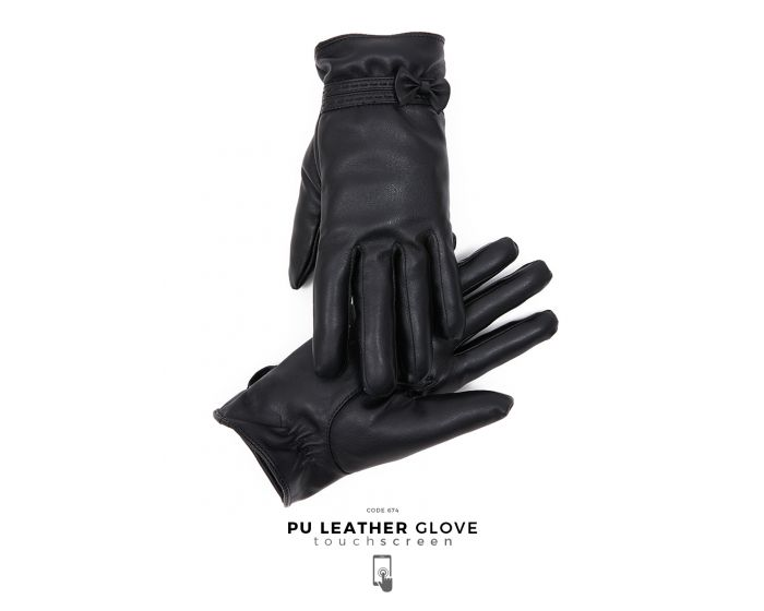 674 PU Leather Glove Touchscreen