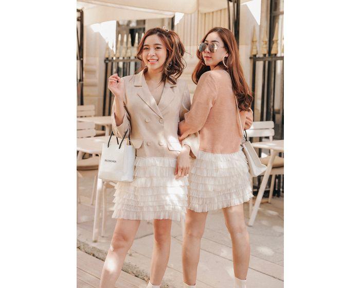 826 Blazer dress with layers