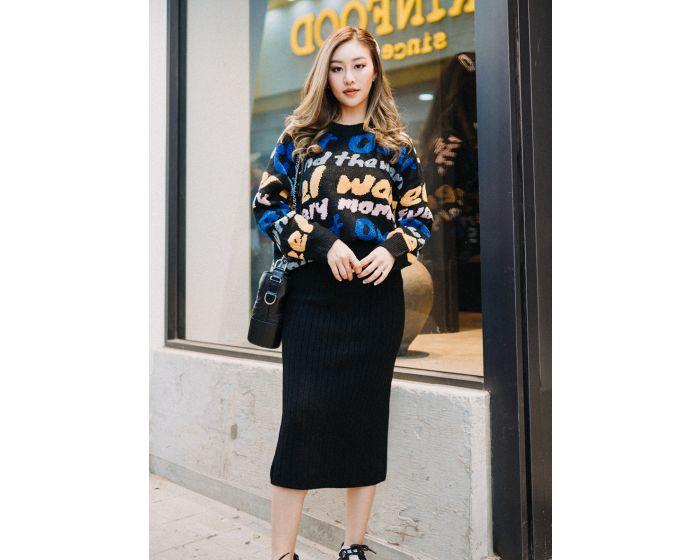 859 Korea Style Long Skirt