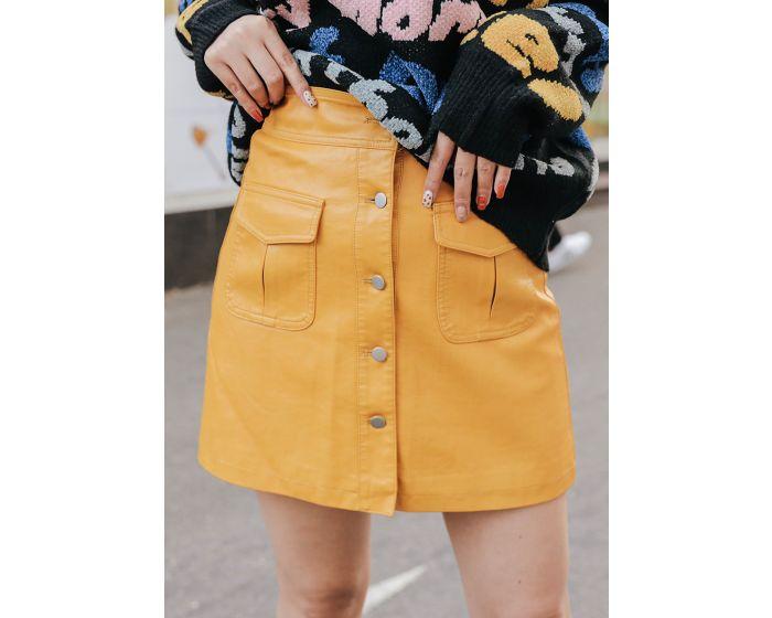 868 Leather Short Skirt