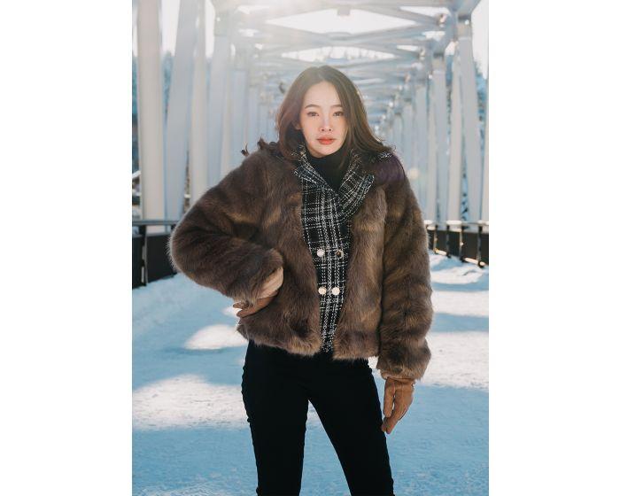 902 Tweed Fur Coat