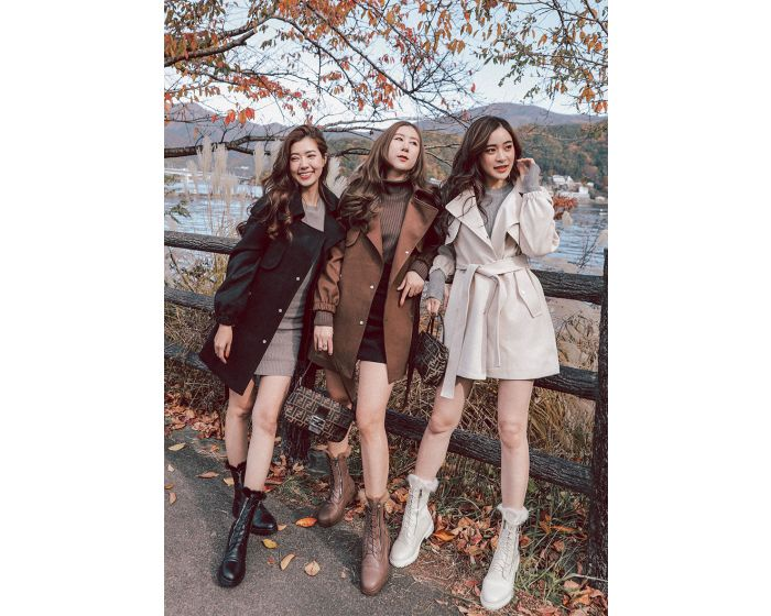 907 short coat autumn with belt