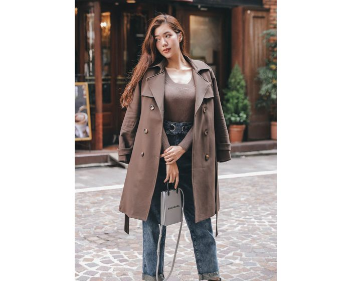 929 Basic Trench Coat