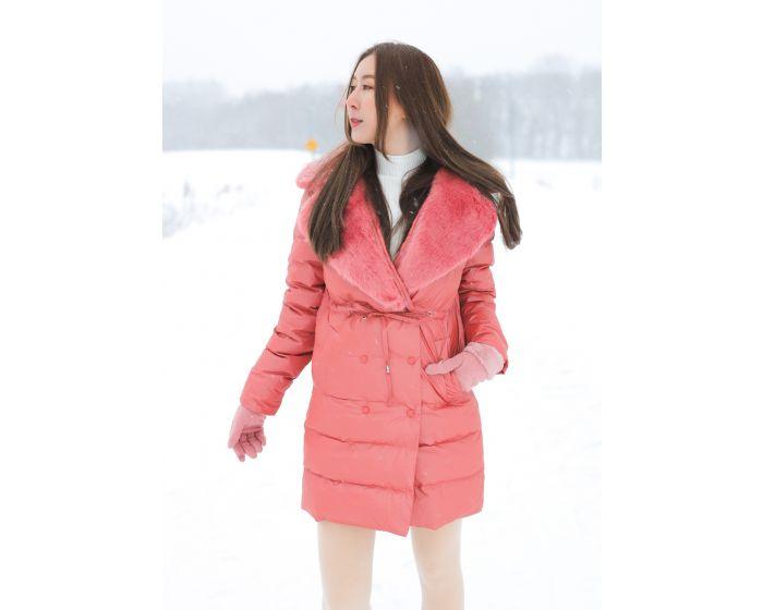 976 Down Coat Collar Fur