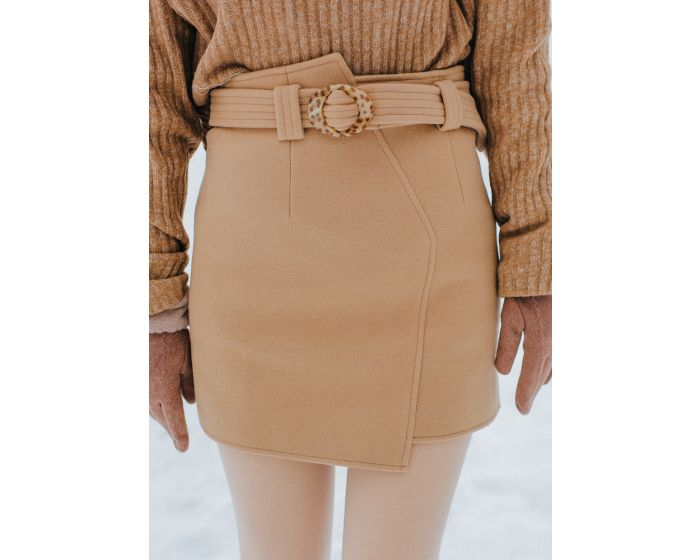 984 Wool Skirt With Belt