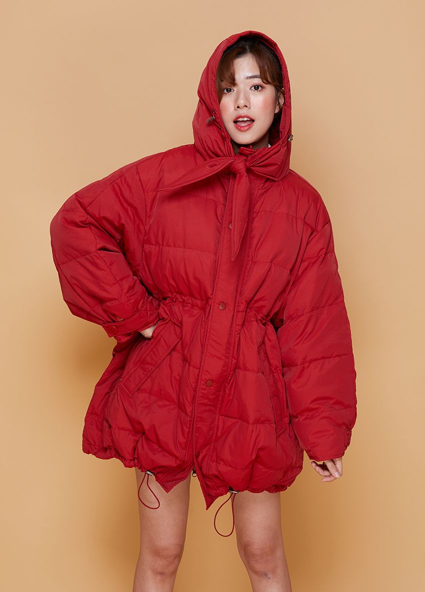 1048 Down Coat hoodie cover face
