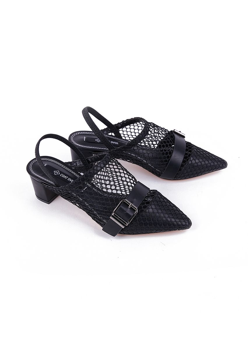 721 Sandals net with belt