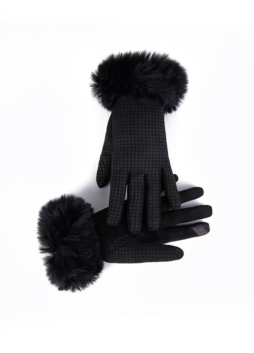 943 FUR GLOVE Shinori FABRIC